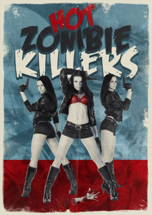 """Hot Zombie Killers"" - a more humorous independent horror movie, which was shown at FrightFest 2009."