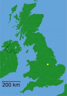 Map location of Nottinghamshire