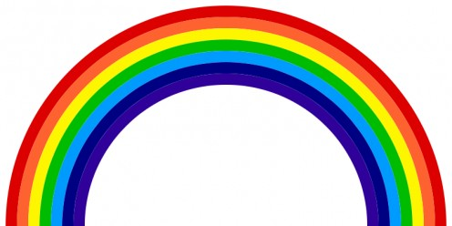 Seven colors of rainbow