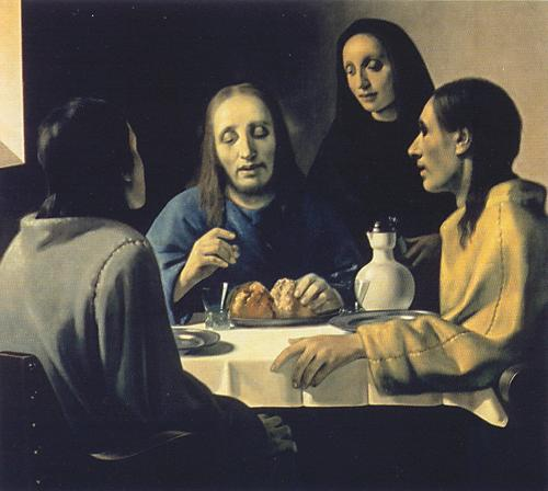 """""""The Supper at Emmaus"""" by van Meegeren was highly praised by Dr. Abraham Bredius and was sold at a good price"""