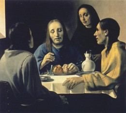 """The Supper at Emmaus"" by van Meegeren was highly praised by Dr. Abraham Bredius and was sold at a good price"