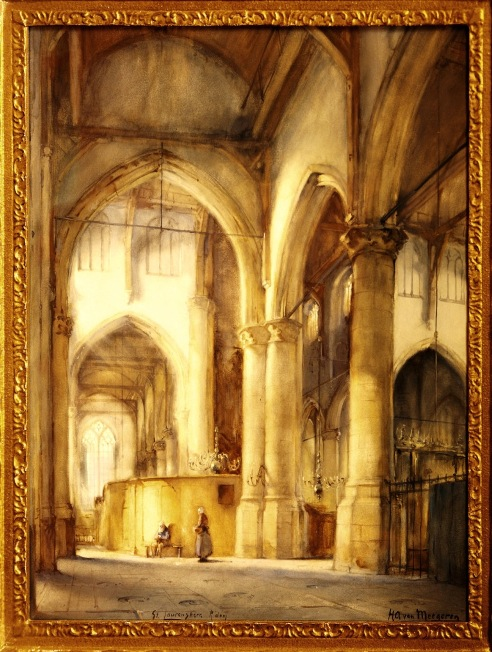 A painting by van Meegeren that had won him first prize in art competition during his student days