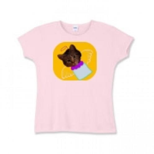Child's T-shirt with picture of angelic cat.