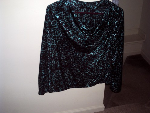 Here is the finished blouse hanging... for my next outing.