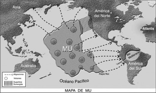 Location of Lemuria, and where it's people scattered
