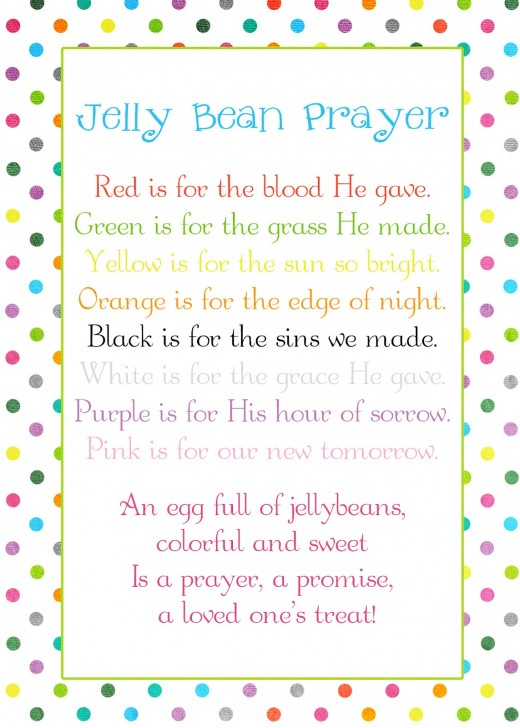 Great Easter gift for children - buy some jellybeans and plastic eggs. Make sure you have one of each color represented on the card.