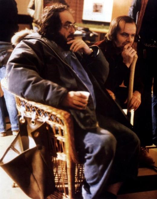 Stanley Kubrick with Jack Nicholson