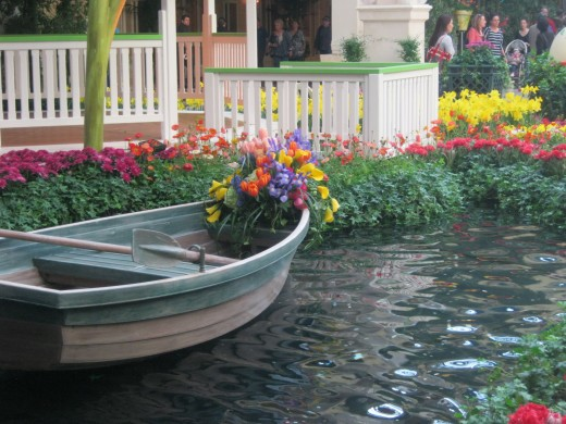 Another pretty feature at the Bellagio Conservatory Springtime exhibition.