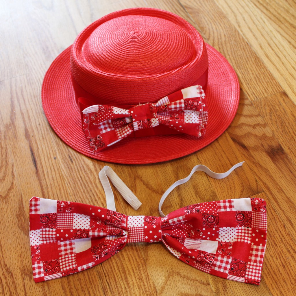 how to make a large clown bow tie