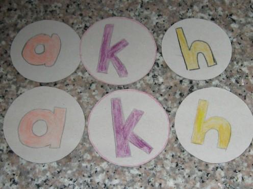 The flash cards I had made myself