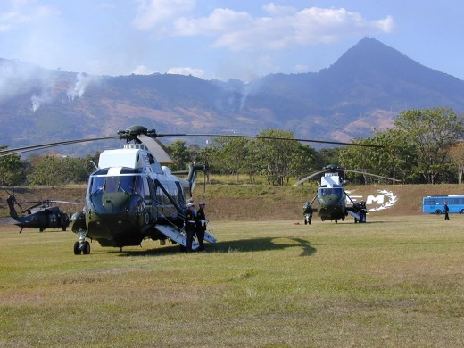 Marine One in El Salvador