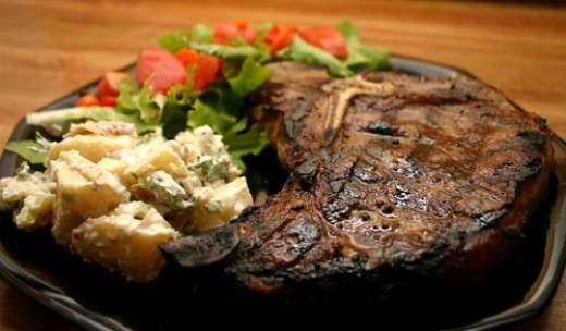 24 ounce T-bone steak