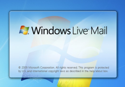 "Microsoft® latest ""Live"" edition of e-mail client window, while its loading..."