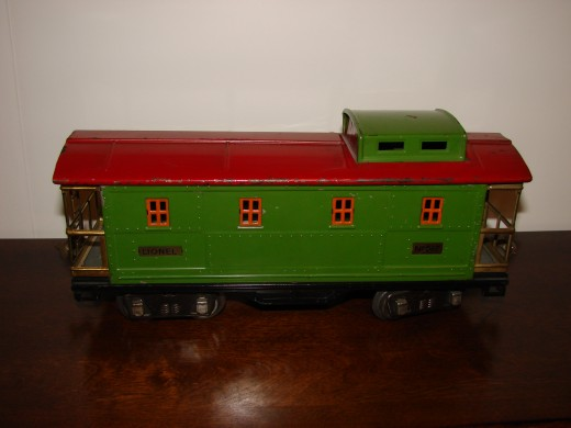 This caboose photo is dark and doesn't show the color well.