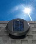 This is a solar attic fan!