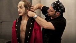 RJ applying makeup to his sorcerer