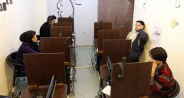 One of Iran's many Internet Cafes for those who cannot afford their own