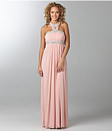 Jodi Kristopher beaded-strap gown