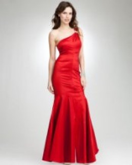 one shoulder taffeta rhinestone gown. Web exclusive