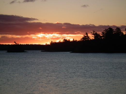 Evening Sunset from Totem Lodge