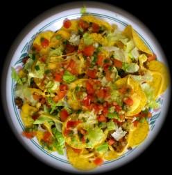 Fresh yellow pepper salsa on nachos...YUM!