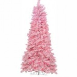 A Flocked Cotton Candy Pink Artificial Christmas Tree