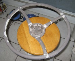 Working on restoring a steering wheel