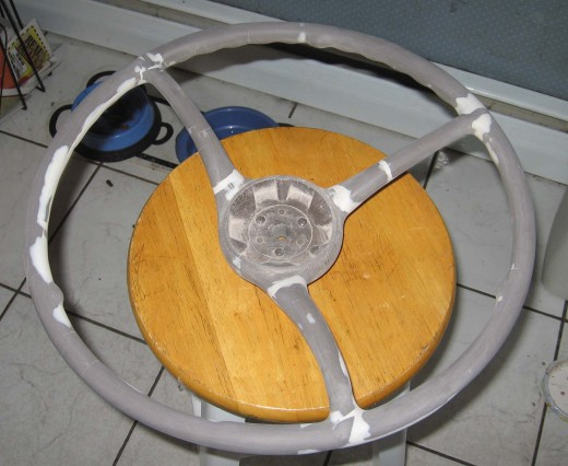 Working on restoring a steering wheel