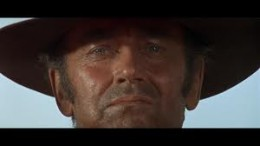 Henry Fonda in one of Leone's famous severe close-ups