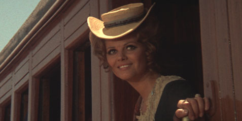 Claudia Cardinale Arriving at the Small Dusty Train Stop
