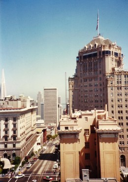 One of many views from our room at the Huntington Hotel in San Francisco.