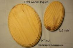 Wood Plaques for Seashell Crafts