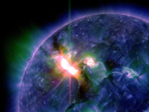 Solar flare in 2012