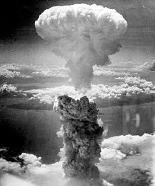 A Mushroom Cloud From A Nuclear Bomb