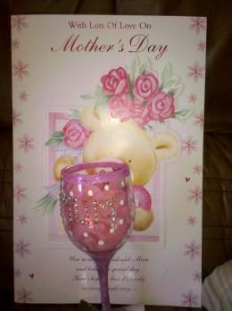 The Decorated glass is an Ideal gift to make for Mother's Day
