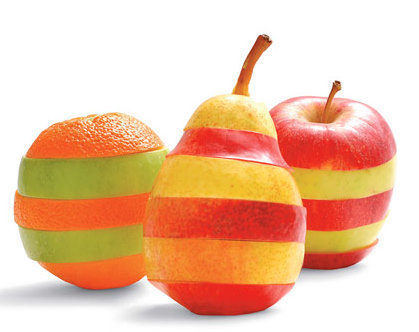 Different fruit colors have a different impact on our health