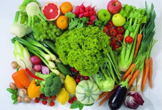 For healthy eating, it is important to combine products of five different colors in one day