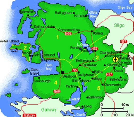 Map of County Mayo as released by the Mayo County Council