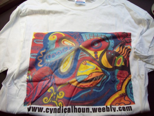 I also created a t-shirt with my own artwork at zazzle.com.  You can also include text to label the artwork, too.