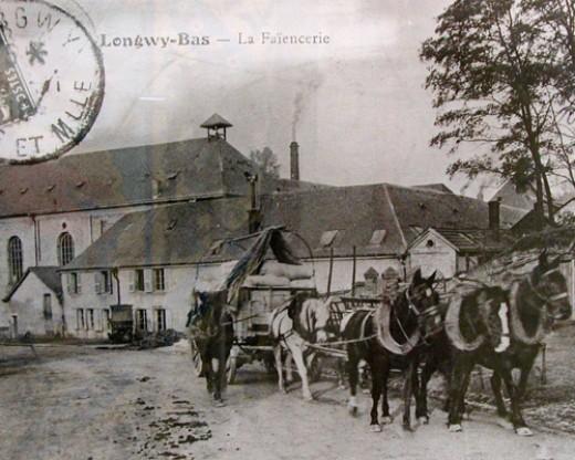 Faiencerie in Longwy, 1900