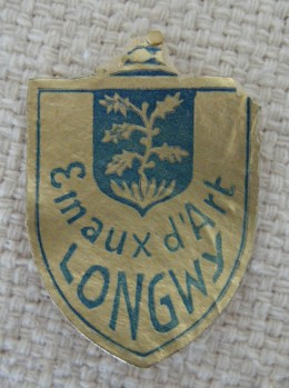 Gold seal for Longwy