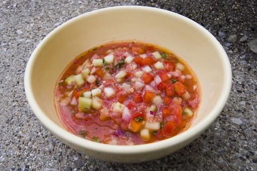 Chunky Gazpacho (cold tomato soup)