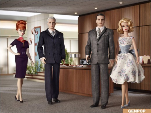 Mad Men Barbie Dolls. Barbie is property of Mattel, Inc. Mad Men is property of Lionsgate.