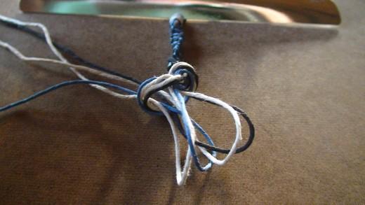 Step 7.2  Make an overhand knot.