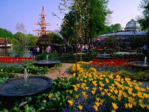 Tivoli Garden in Copenhagen, Denmark