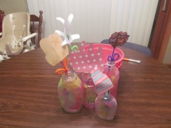 Spring Crafts for Kids:  A Picture Guide to Making Handprint Flowers and Sand Vases