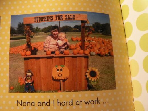Nana and MacKenzie at the Pumpkin Farm in  Photo Book