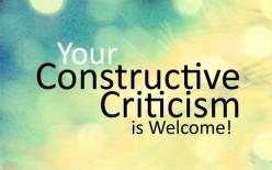 Appreciate Criticism!