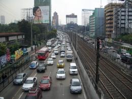 Traffic along EDSA, Manila
