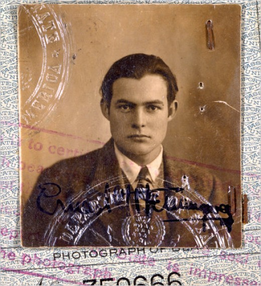 Ernest Hemingway was part of a generation of Americans who lived by the charm of Europe in Paris during the 1920's. This is the famous writer's passport photo from 1923.